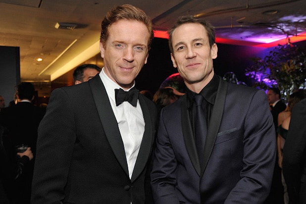 Damian Lewis and Tobias Menzies InStyle and Warner Bros Golden Globe Awards Party