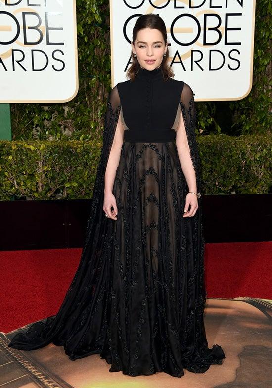 Emilia Clarke 2016 Golden Globes