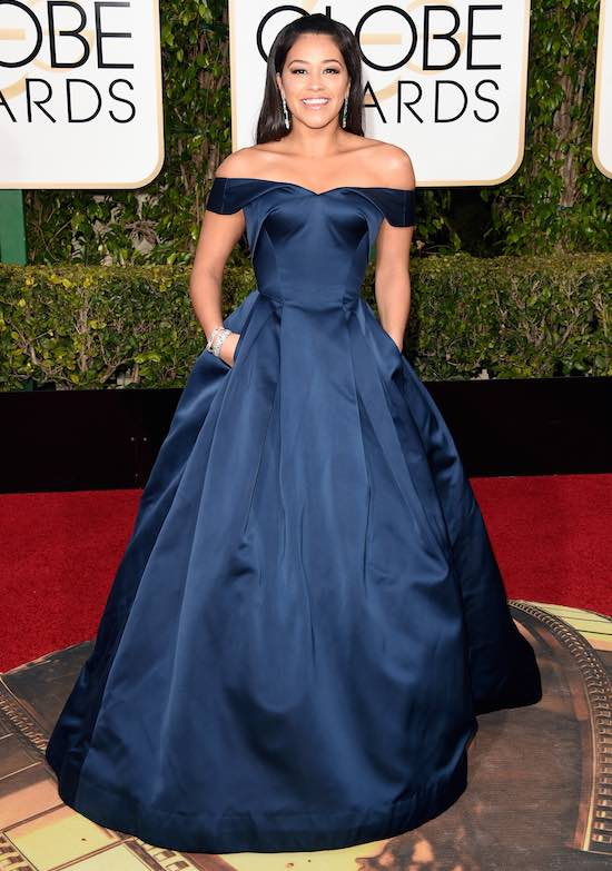 Gina Rodriguez 73rd Annual Golden Globe Awards Arrivals