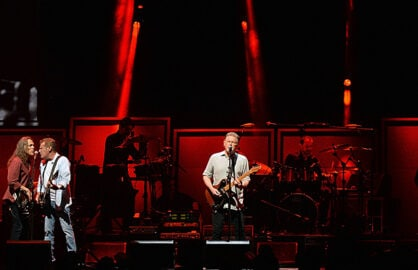 Glenn Frey performing with Eagles members Timothy B. Schmit, Glen Frey and Don Henley in Oct. 2013