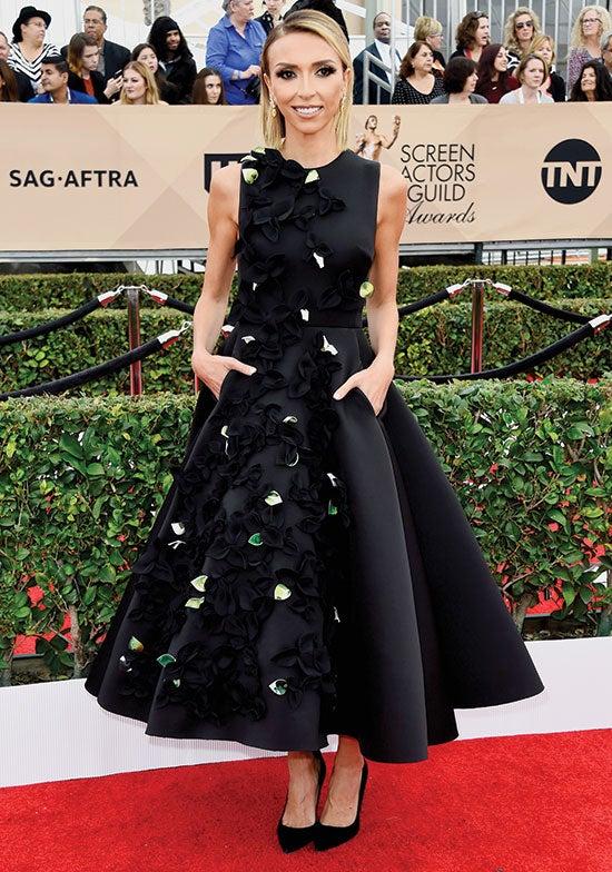 Guliana Rancic arriving at SAG Awards