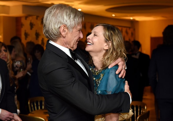 Harrison Ford Calista Flockhart HBO Golden Globe Awards Party