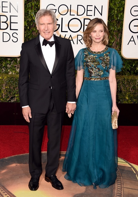 Harrison Ford Calista Flockhart 2016 Golden Globes
