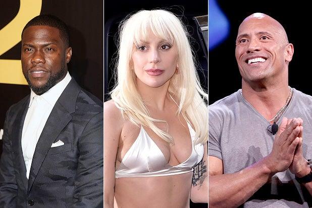 Kevin Hart Lady Gaga Dwayne Rock Johnson Golden Globes
