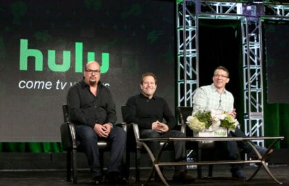 Producers of content on Hulu onstage at the Winter TCA press tour