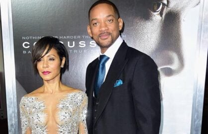 Jada Pinkett Smith and Will Smith at Concussion Premiere Oscars