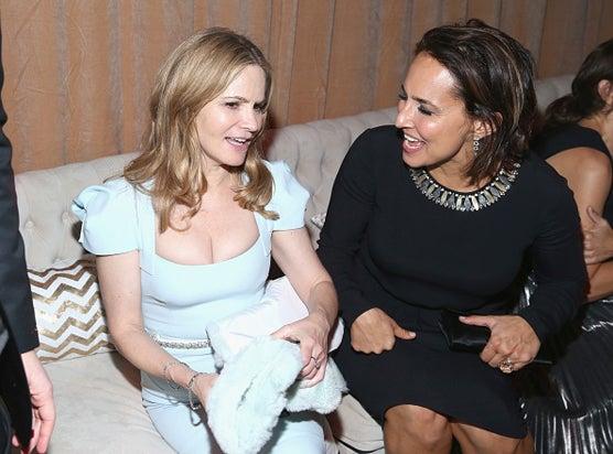 Jennifer Jason Leigh Weinstein Company and Netflix Golden Globes Party