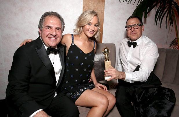 Jennifer Lawrence Jim Gianopulos Fox Golden Globe Awards Party