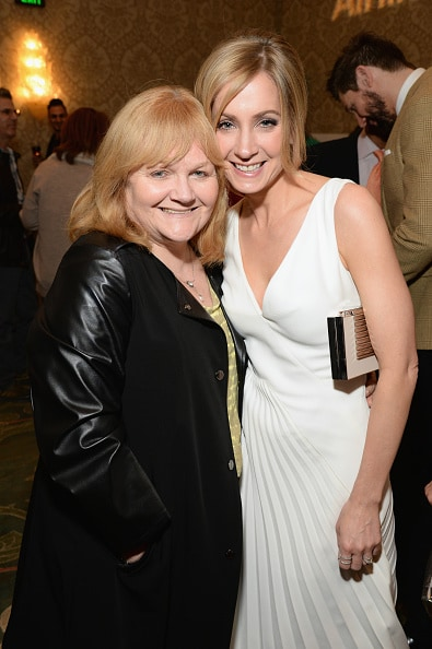 LOS ANGELES, CA - JANUARY 09: Actresses Lesley Nicol (L) and Joanne Froggatt attend the BAFTA Los Angeles Awards Season Tea at Four Seasons Hotel Los Angeles at Beverly Hills on January 9, 2016 in Los Angeles, California. (Photo by Michael Kovac/Getty Images for The GREAT Britain Campaign)