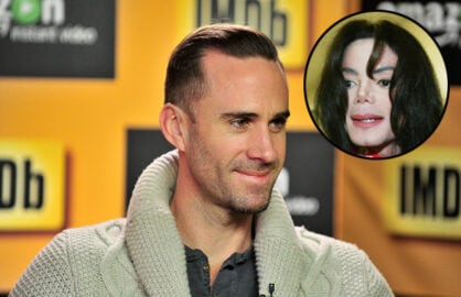 Joseph Fiennes and Michael Jackson