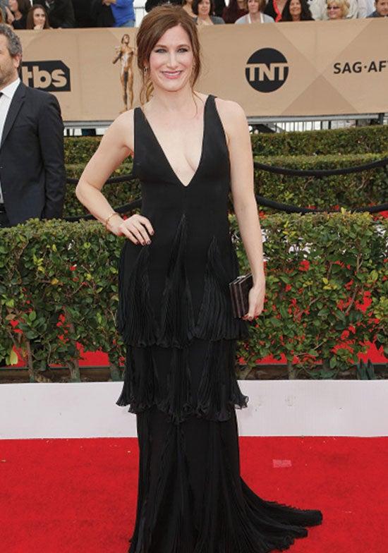 Kathryn Hahn arriving at SAG Awards