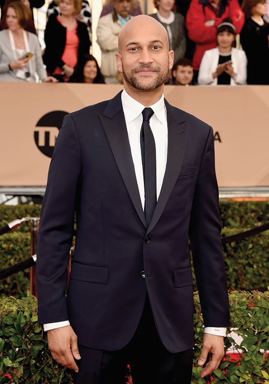 Keegan Michael Key arrives at the SAG Awards