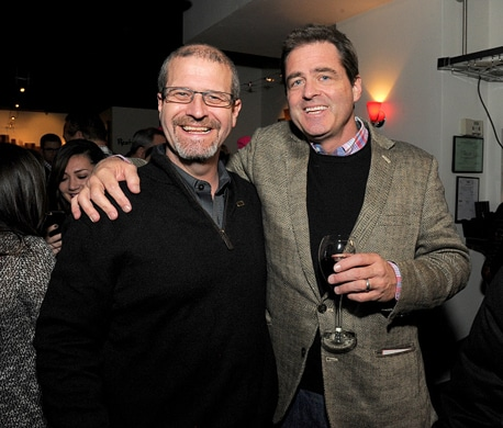 PARK CITY, UT - JANUARY 25: IMDb's Keith Simanton (L) and President of Film Independent Josh Welsh attend a party, hosted by IMDb, celebrating Bryce Dallas Howard receiving an IMDb STARmeter Award on January 25, 2016 in Park City, Utah. (Photo by Angela Weiss/Getty Images for IMDb)