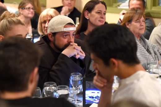 PARK CITY, UT - JANUARY 23: Filmmaker Kevin Smith attends the Creative Coalition Spotlight Initiative Awards Gala Dinner at Cisero's Bar on January 23, 2016 in Park City, Utah. (Photo by Nicholas Hunt/Getty Images)