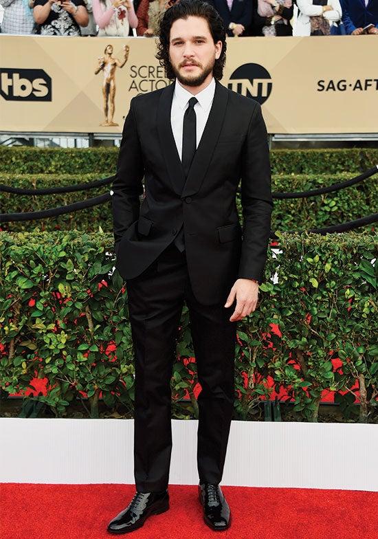 Kit Harrington arrives at SAG Awards