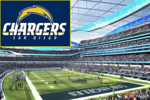 LA NFL Stadium Inglewood Chargers Logo