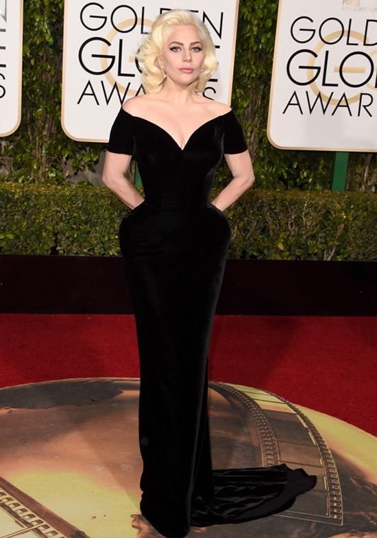 Lady Gaga 2016 Golden Globes