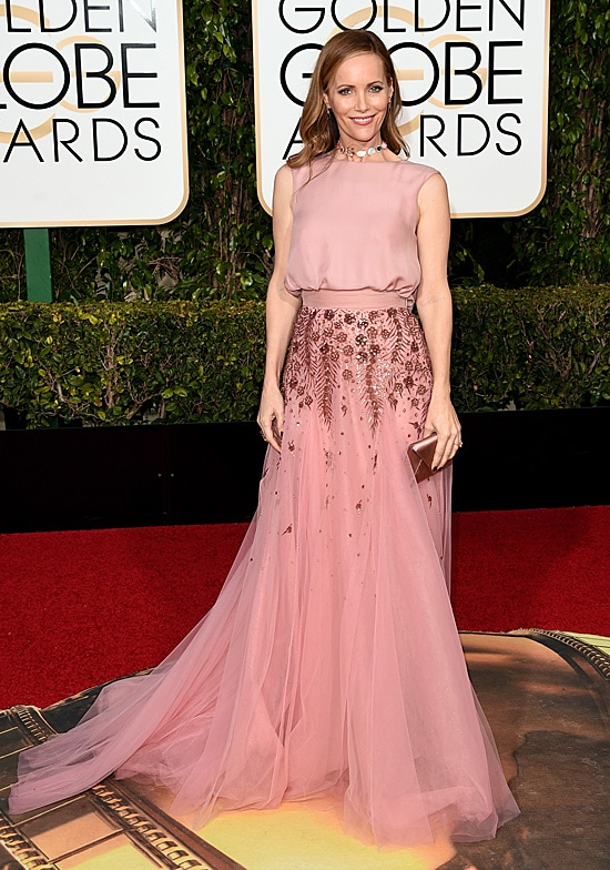 Leslie Mann 73rd Annual Golden Globe Awards Arrivals