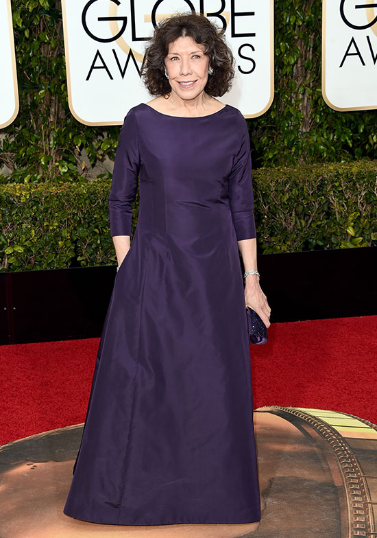 Lily Tomlin arrives at the Golden Globes