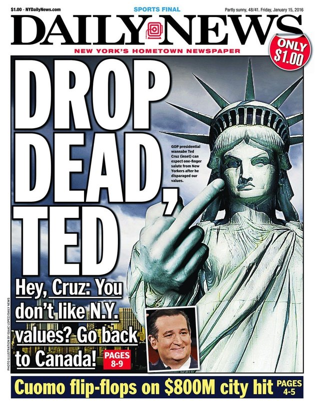 De Blasio tells New Yorkers not to donate to 'hypocritical' Cruz