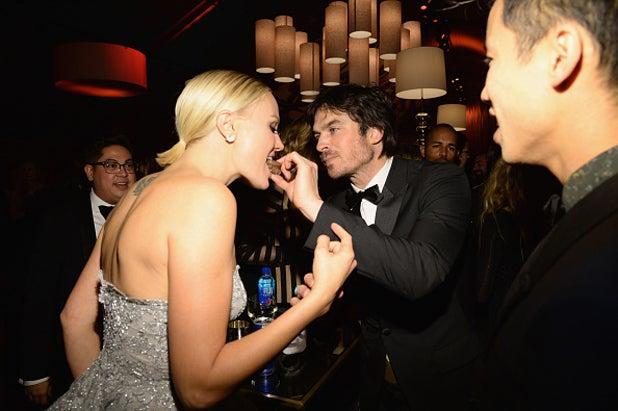 Malin Akerman Ian Somerhalder Weinstein Company and Netflix Golden Globes Party