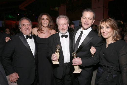 Ridley Scott Matt Damon Fox Golden Globe Awards Party