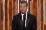 Matt Damon Golden Globes Ben Affleck Burn