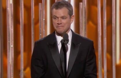Matt Damon Golden Globes Ben Affleck Burn