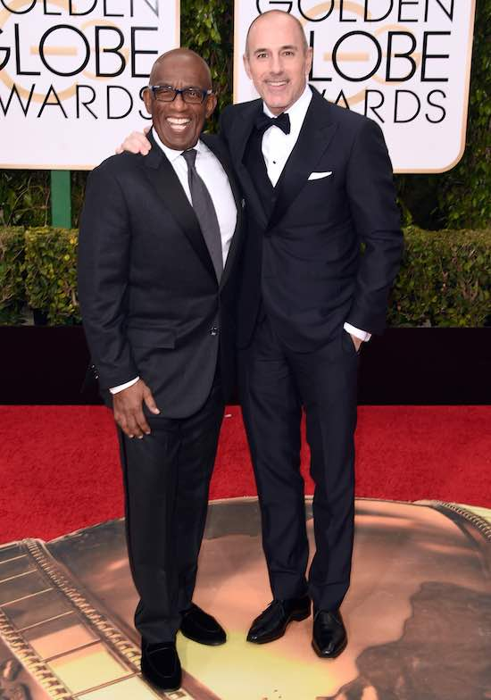 Al Roker Matt Lauer 73rd Annual Golden Globe Awards Arrivals