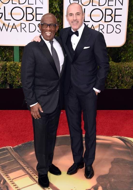 Al Roker Matt Lauer 73rd Annual Golden Globe Awards Arrivals