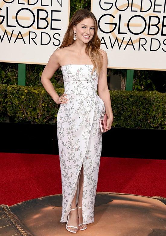 Melissa Benoist 2016 Golden Globes