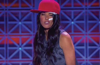 Olivia Munn performs on Lip Sync Battle
