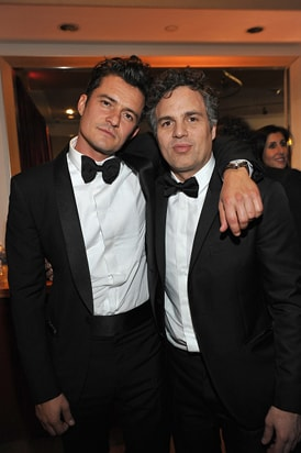 Orlando Bloom Mark Ruffalo InStyle and Warner Bros Golden Globe Awards Party
