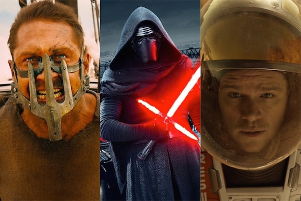 Mad Max: Fury Road, Star Wars: The Force Awakens and The Martian