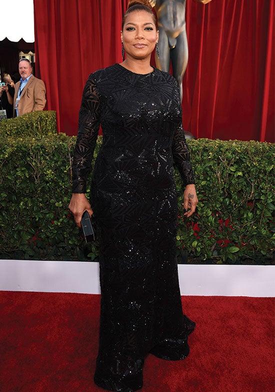 Queen Latifah arrives at the SAG Awards