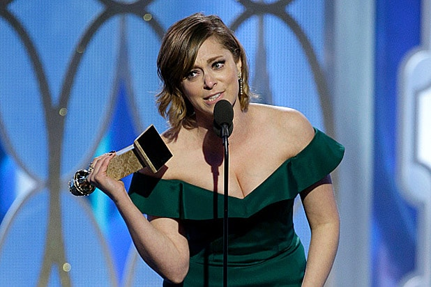 Rachel Bloom at Golden Globes 2016