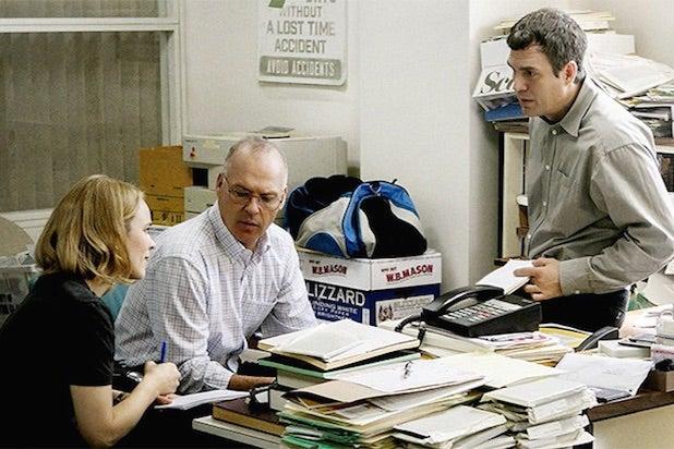 Rachel McAdams, MIchael Keaton and Mark Ruffalo in Spotlight