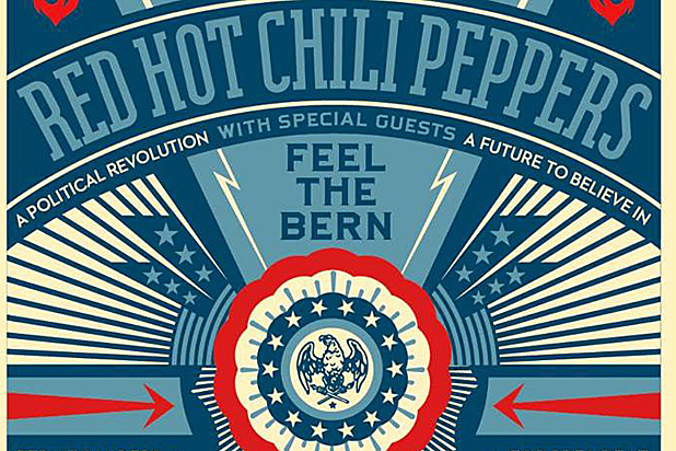 Red Hot Chili Peppers Feel the Bern Cropped