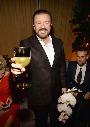 Ricky Gervais Weinstein Company and Netflix Golden Globes Party