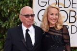 BEVERLY HILLS, CA - JANUARY 10: News Corp. CEO Rupert Murdoch (L) and model Jerry Hall attend the 73rd Annual Golden Globe Awards held at the Beverly Hilton Hotel on January 10, 2016 in Beverly Hills, California. (Photo by John Shearer/Getty Images)