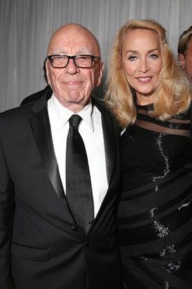 Rupert Murdoch Jerry Hall Fox Golden Globe Awards Party