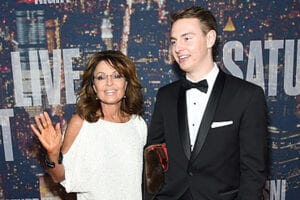 Sarah Palin & Track Palin at SNL 40th Anniversary