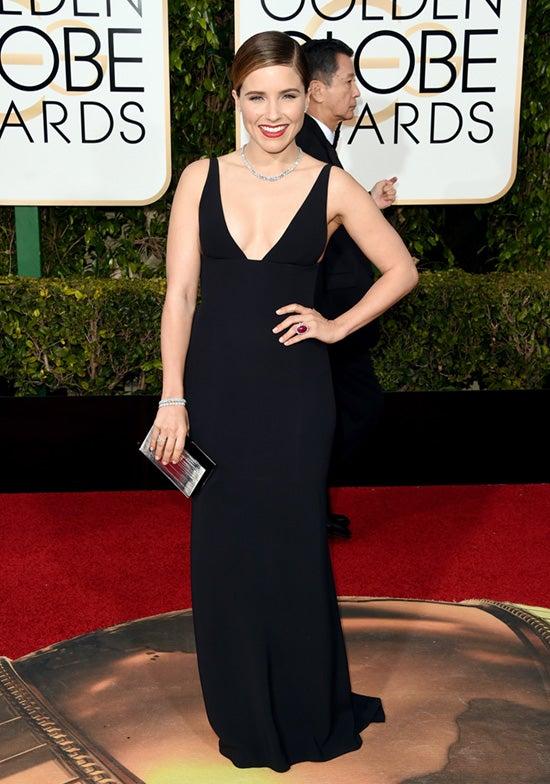 Sophia Bush 73rd Annual Golden Globe Awards Arrivals