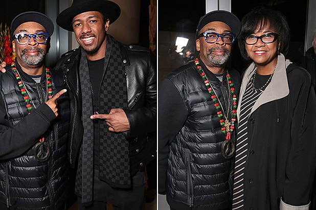 CENTURY CITY, CA - JANUARY 05: Spike Lee, Nick Cannon, Cheryl Boone Isaacs attend a CHI-RAQ Pray 4 My City Reception at ICM Screening Room on January 5, 2016 in Century City, California. (Photo by Todd Williamson/Getty Images for Roadside Attractions/Amazon Studios)