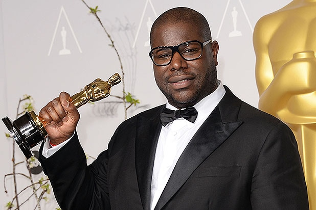 HOLLYWOOD, CA - MARCH 02: Director Steve McQueen, winner of Best Picture for '12 Years a Slave', poses in the press room during the Oscars at Loews Hollywood Hotel on March 2, 2014 in Hollywood, California. (Photo by Jason Merritt/Getty Images