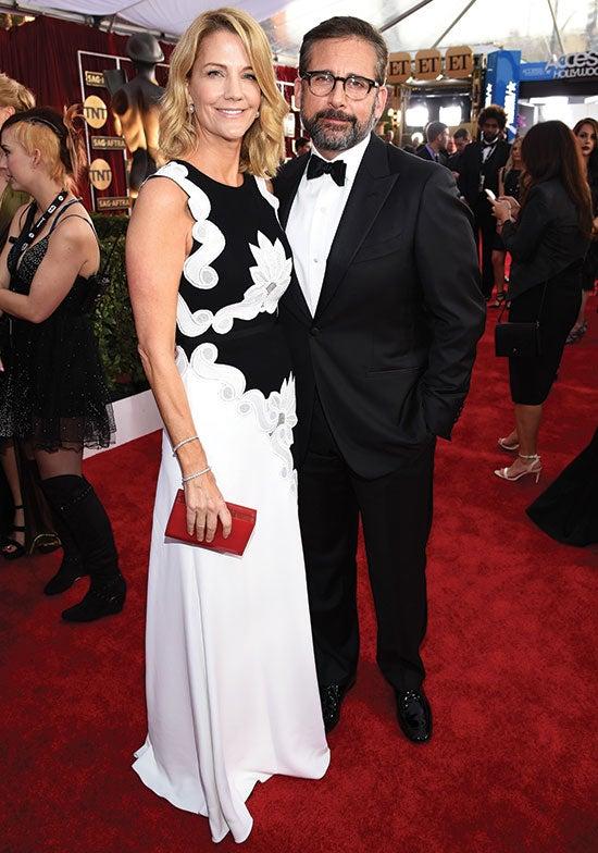 Steve Carell arrives at the SAG Awards