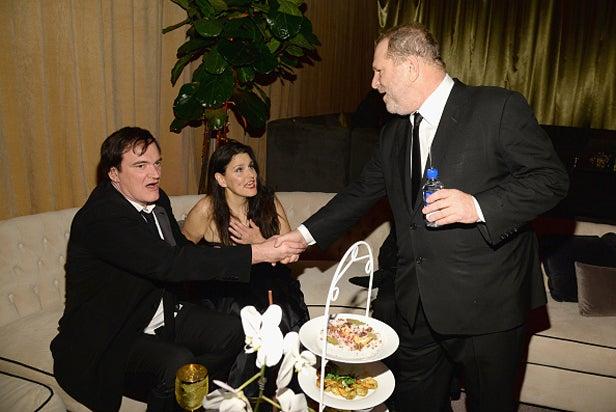 Quentin Tarantino Harvey Weinstein Golden Globes Party