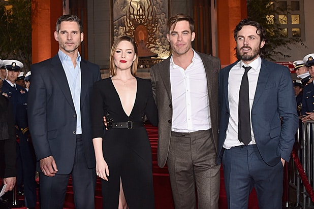 Eric Bana, Holliday Grainger, Chris Pine and Casey Affleck at The Finest Hours premiere