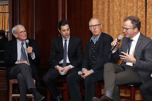 - New York, NY 1/4/16 - NYC Lunch in Celebration of SPOTLIGHT -PICTURED: Tom Brokaw, Joshn Singer, Michael Keaton, Tom McCarthy -PHOTO by: Patrick Lewis/Starpix -Filename: PL_16_000032.JPG -Location: Harvard Club Startraks Photo New York, NY For licensing please call 212-414-9464 or email sales@startraksphoto.com Startraks Photo reserves the right to pursue unauthorized users of this image. If you violate our intellectual property you may be liable for actual damages, loss of income, and profits you derive from the use of this image, and where appropriate, the cost of collection and/or statutory damages.