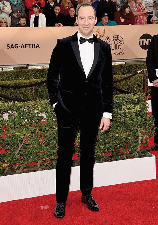 Tony Hale arrives at the SAG Awards